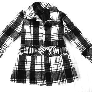 Iz Byer Jackets & Coats - Cutie Black and White Pea Coat For Kids